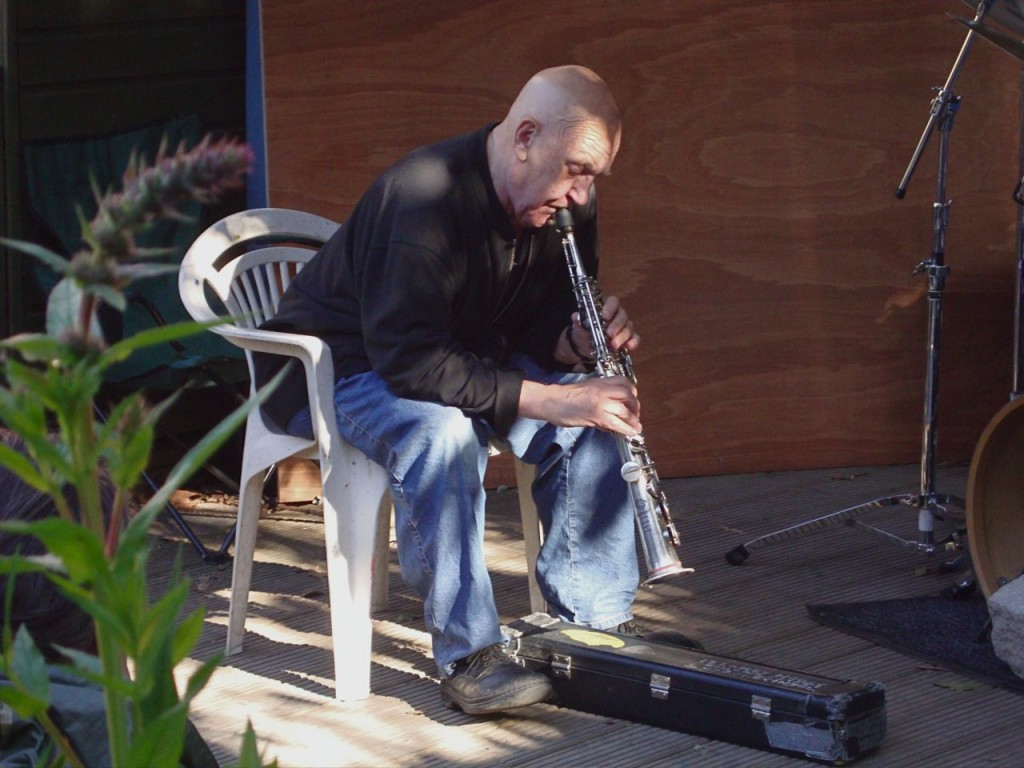 Lol Coxhill in Herb Garden, Deptford - Photo by Dave Walkling